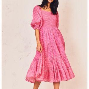 LOVESHACKFANCY Rigby Dress XS in Fuschia